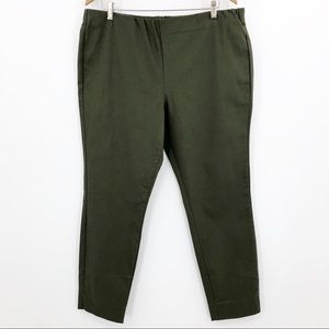 Who What Wear Skinny Ankle Cropped Pants Green Zip
